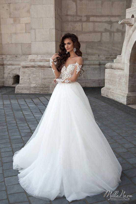 Muitas vezes Resultado de imagem para vestido de noiva de alcinha com brilho  AU15