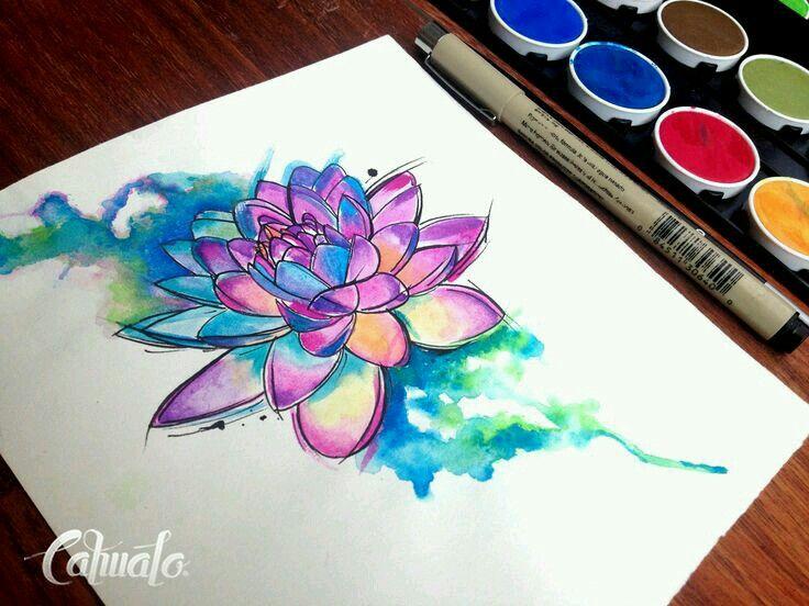 Lotus Tattoo Watercolor Lotus Tattoo Tattoos Watercolor Tattoo