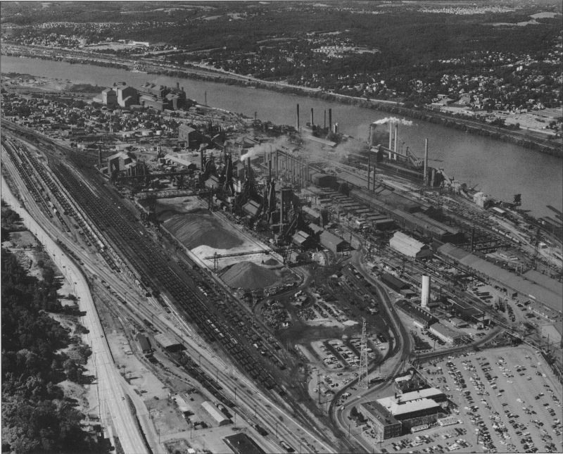 An Aerial View Of The North Mill Aliquippa Works Showing