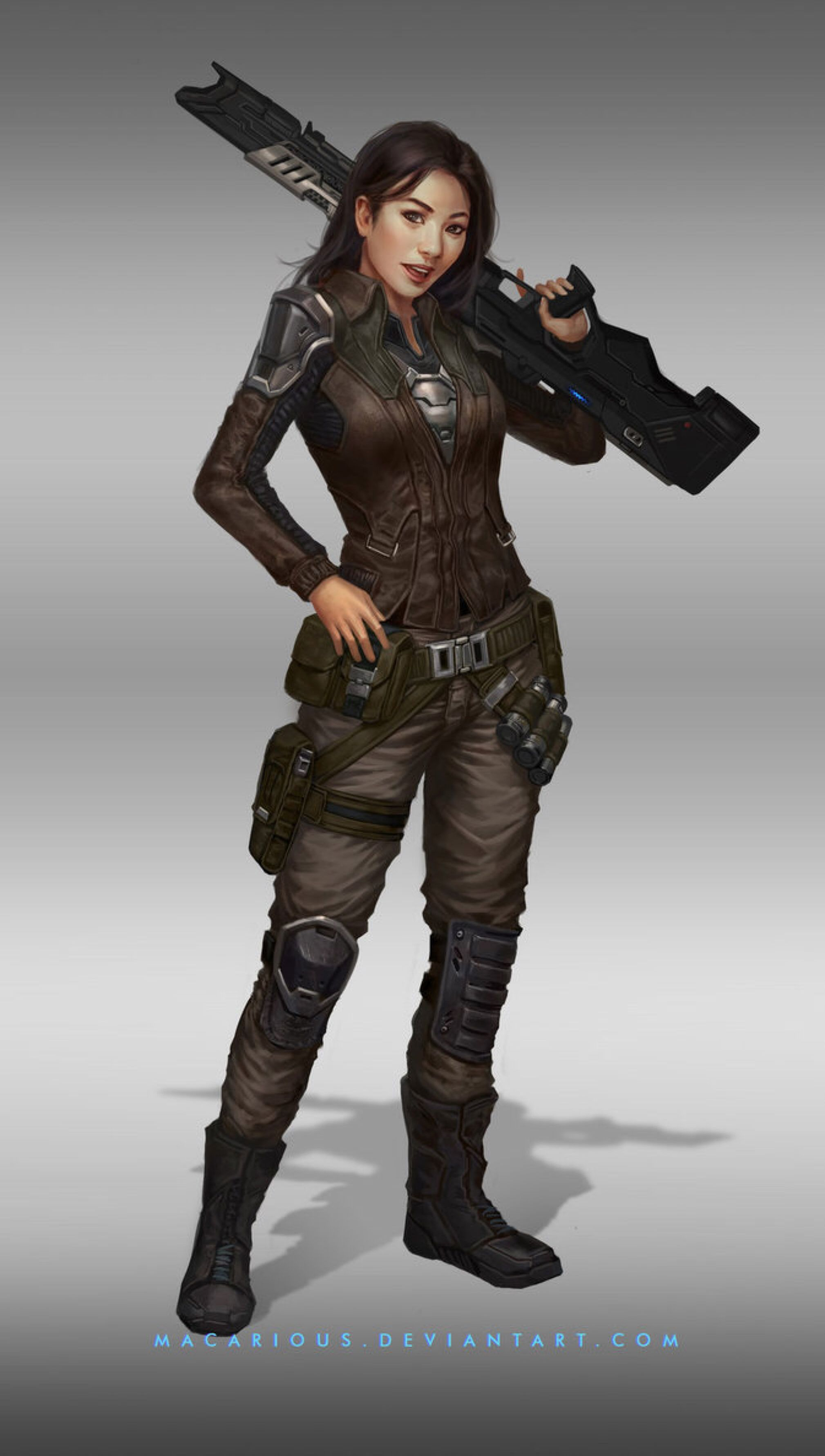 rebellion female soldier : character design by macarious ...