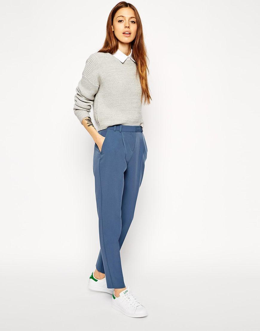 Achetez ASOS - Pantalon droit à taille haute sur ASOS. Découvrez la mode en  ligne. 08bbf7dc0437