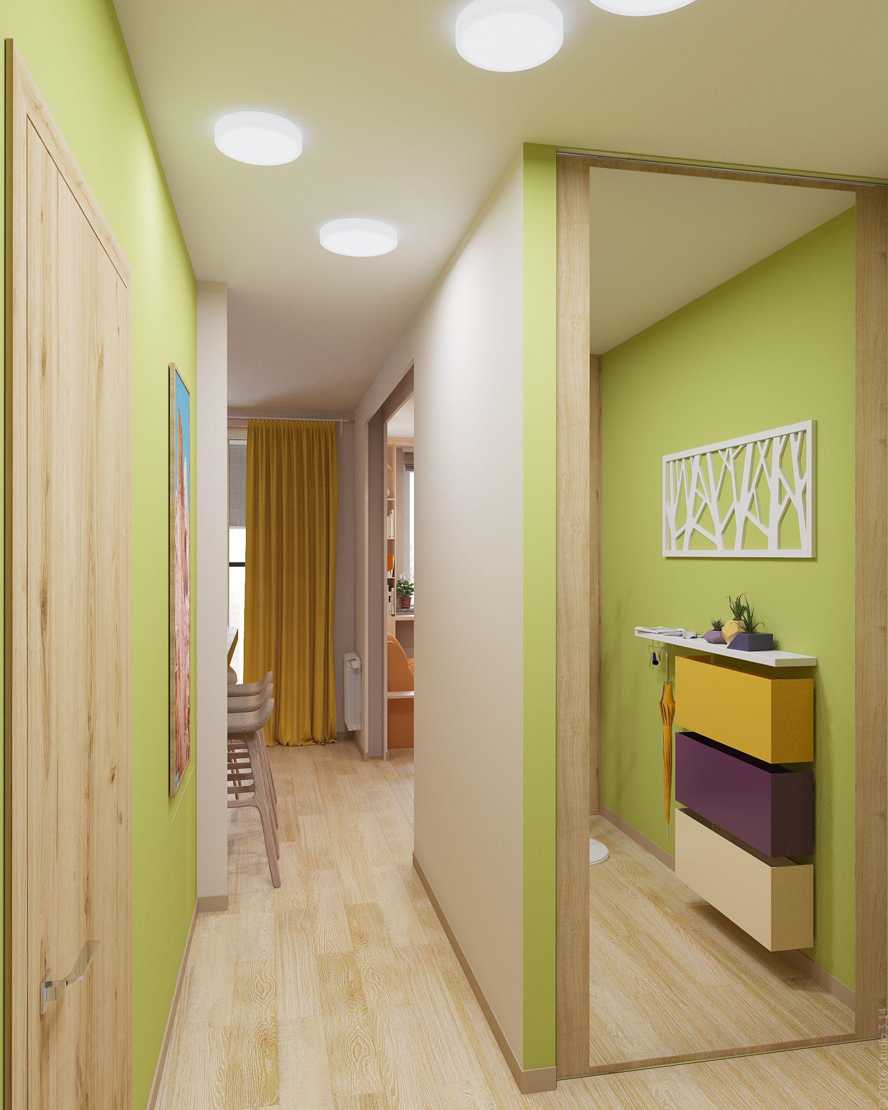 пошаговых коридор в однокомнатной квартире дизайн фото решила взять