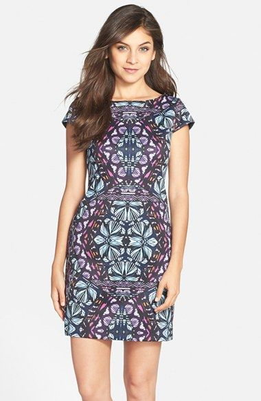 6a516b57a144 Vince Camuto Graphic Print Scuba Shift Dress (Regular   Petite) available  at  Nordstrom