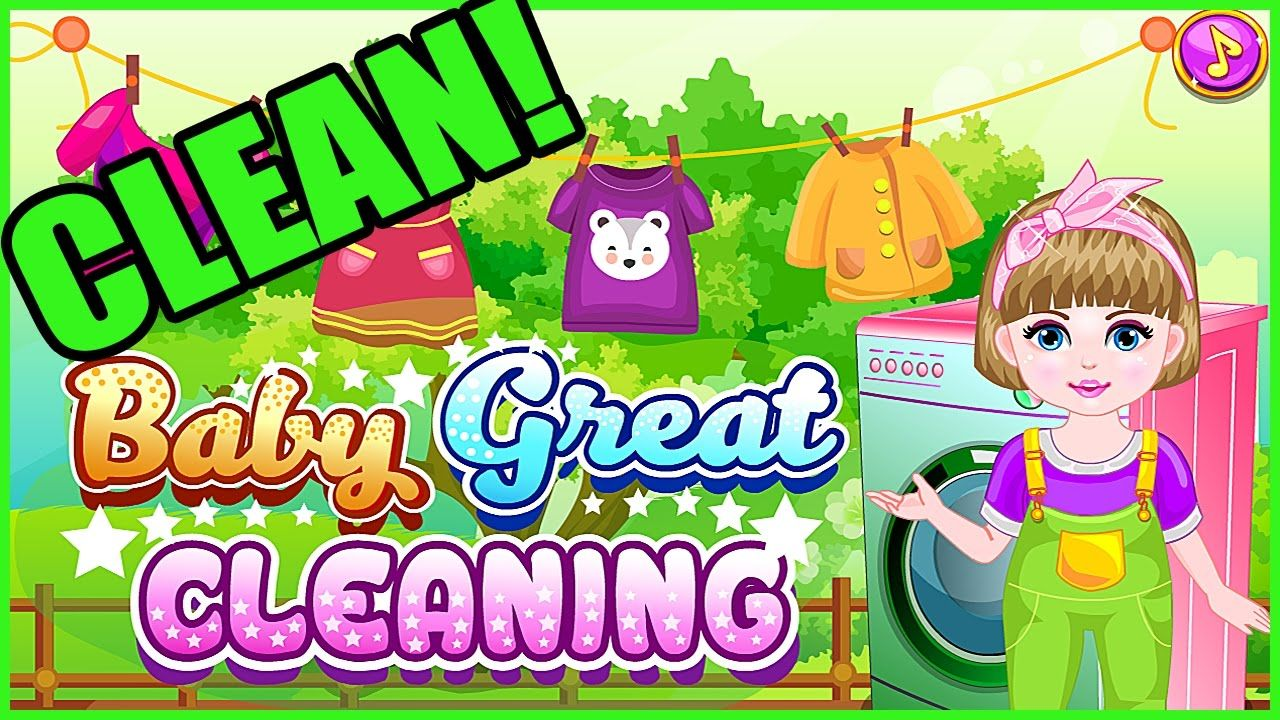 """VIDEO Free Online Kid Game """"Baby Great Cleaning"""" (Make"""