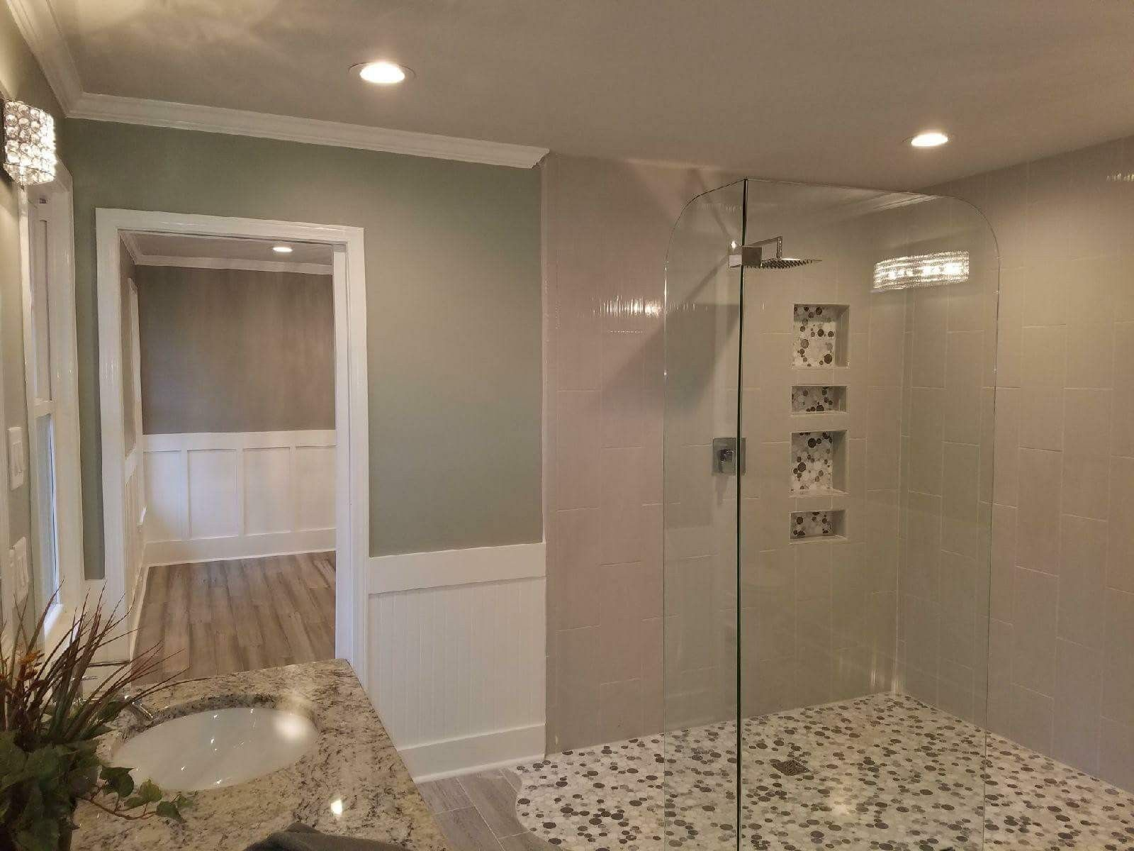 Curbless Shower by ETP Contracting INC Raleigh NC bathroom
