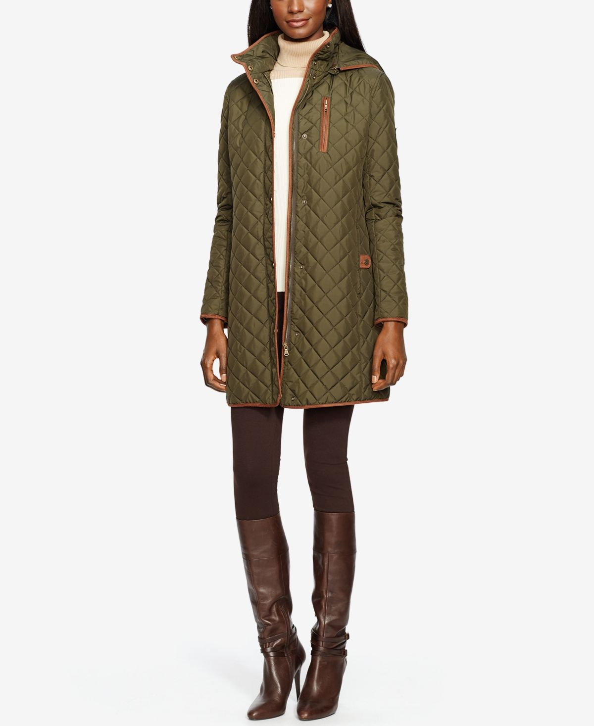 Lauren Ralph Lauren Icon Hooded Quilted Jacket Created For Macys Reviews Coats Women Macy S In 2020 Quilted Coat Coats For Women Quilted Jacket