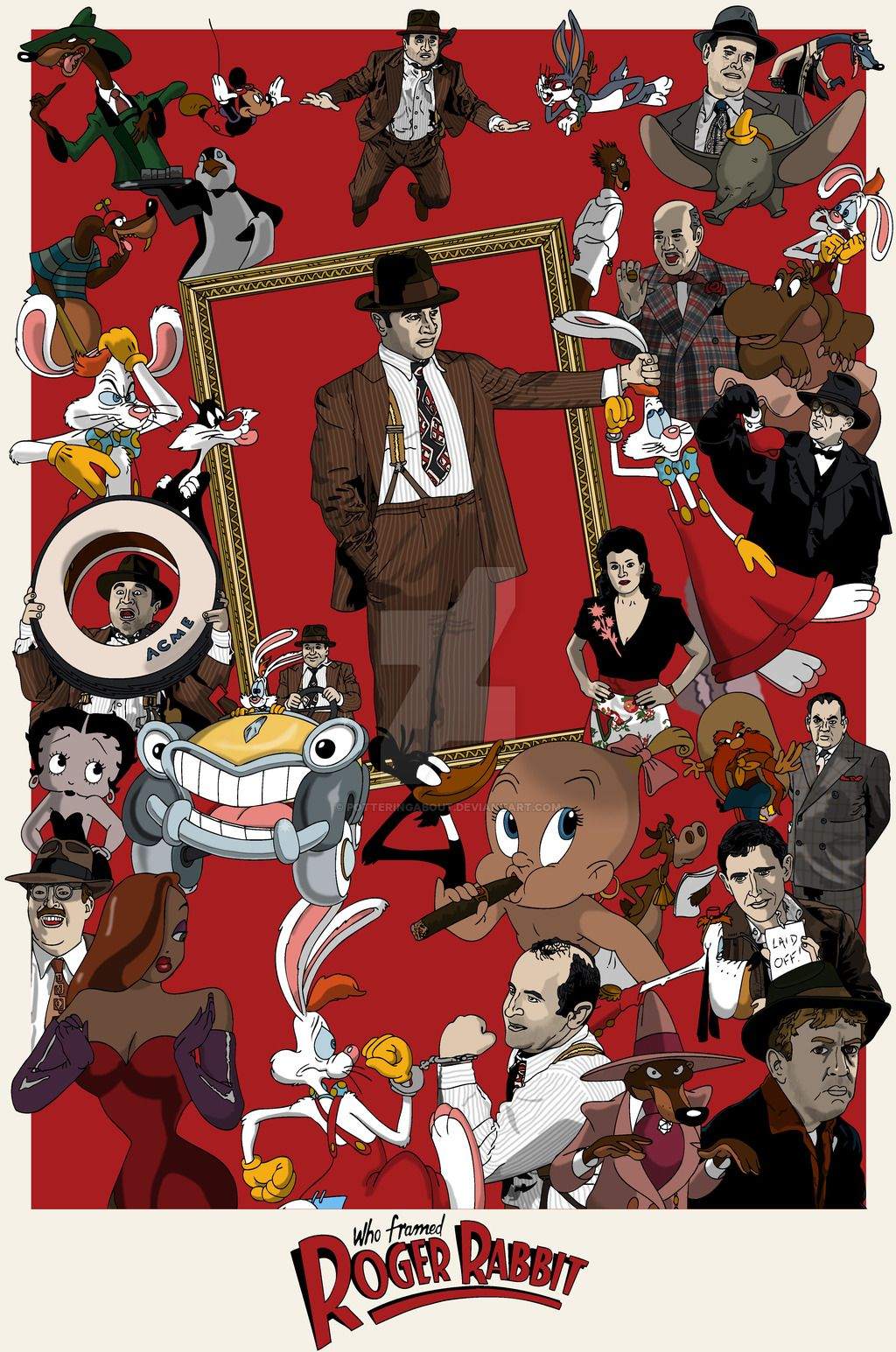 Who Framed Roger Rabbit by PotteringAbout | illustrated Movie ...