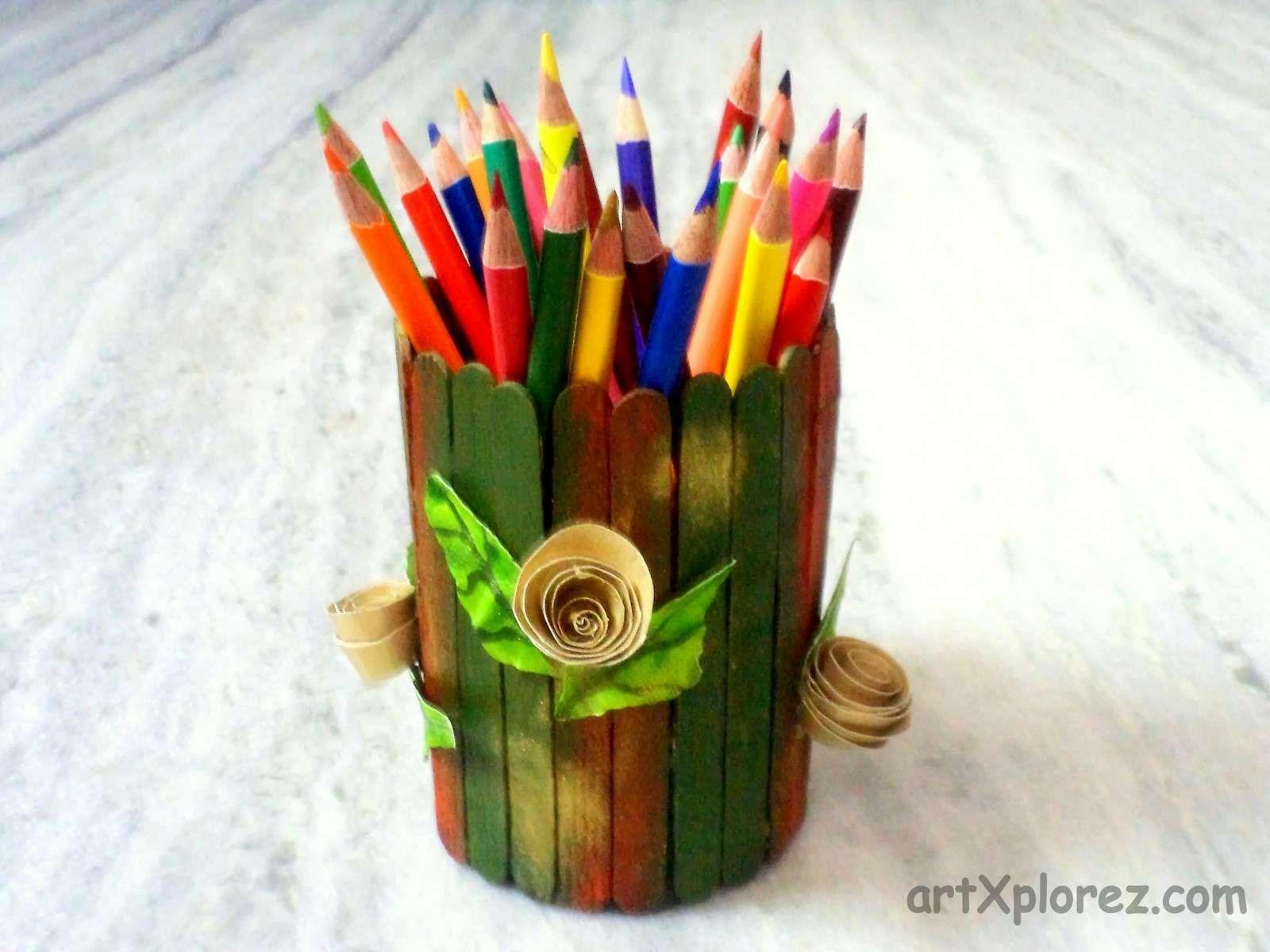 Ice Cream Stick Crafts - Ice Cream Stick Craft Puppet Making
