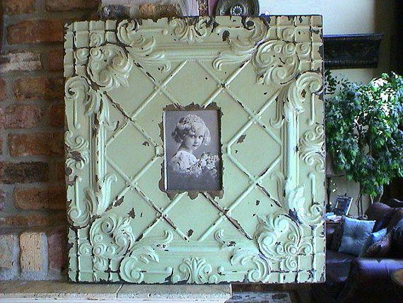 Huge Genuine Antique Ceiling Tin