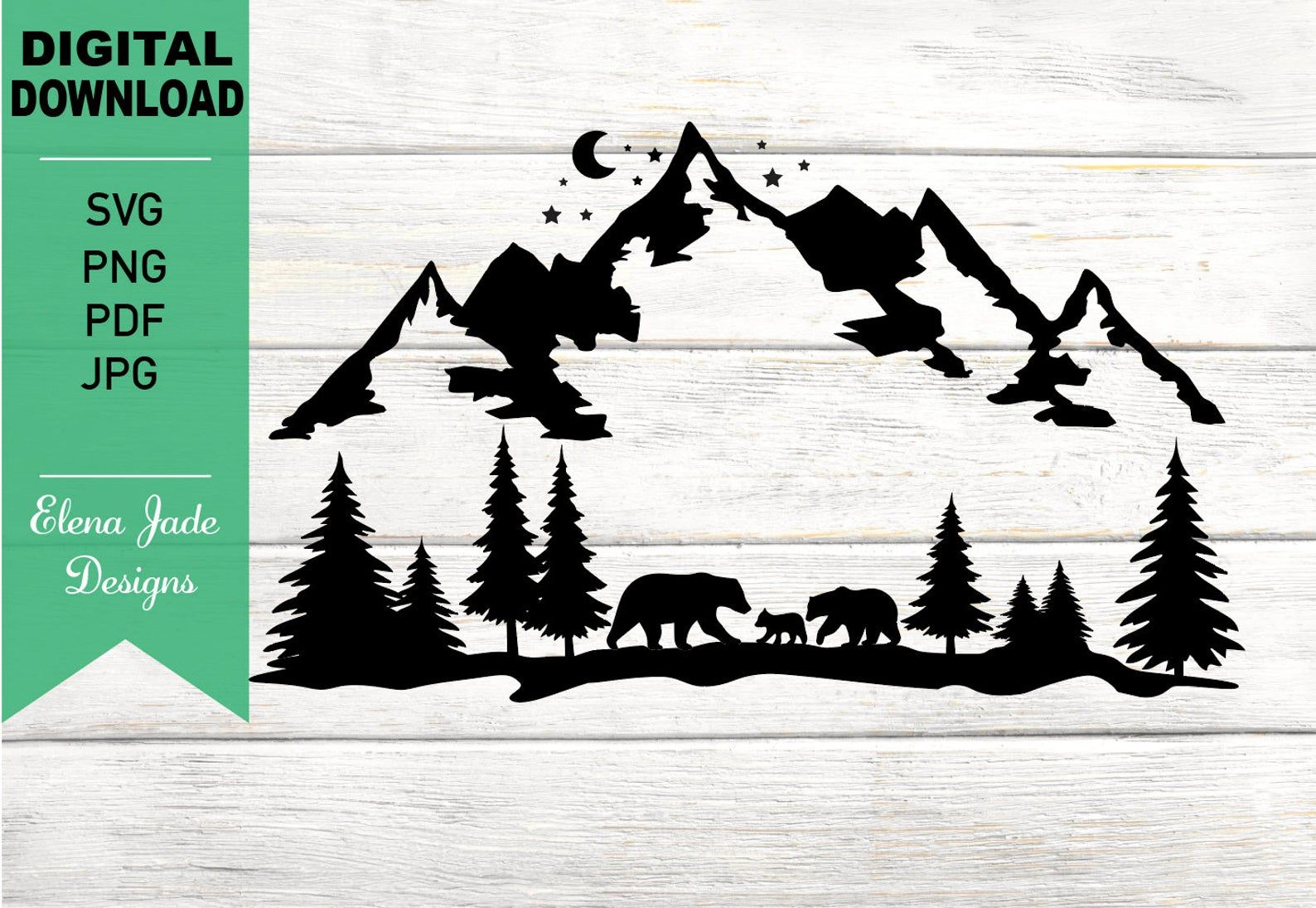 Bears In Mountain And Forest Camping Hunting Hiking Etsy In 2020 Christmas Signs Wood Handmade Business Cricut Projects Vinyl