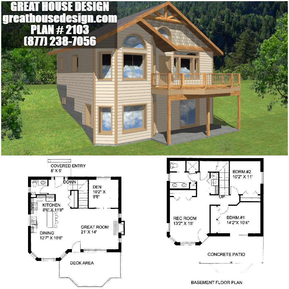Hillside ICF House Plan # 2103 Toll Free: (877) 238-7056 | Insulated on timber frame house designs, concrete house designs, zero energy house designs, wood house designs, log house designs, ice house designs, straw bale house designs, sap house designs,
