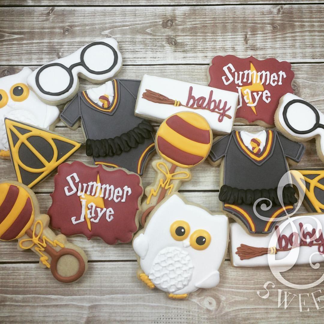 Attractive Harry Potter Baby Shower Cookies