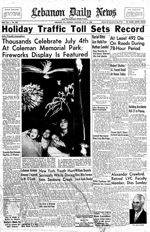 Lebanon Daily News - July 6, 1964 | Historic Newspapers | Daily news