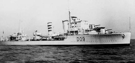 HMS Imperial (D 09) of the Royal Navy - British Destroyer of the I class - Allied Warships of WWII - uboat.net