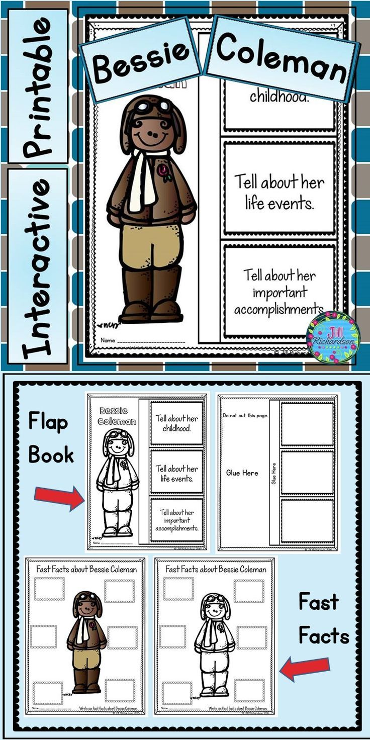 Bessie Coleman Activities Have Your Children Research Bessie Coleman This Product Includes Two Ways For Your Children T Interactive Writing Teaching Booker T [ 1472 x 736 Pixel ]