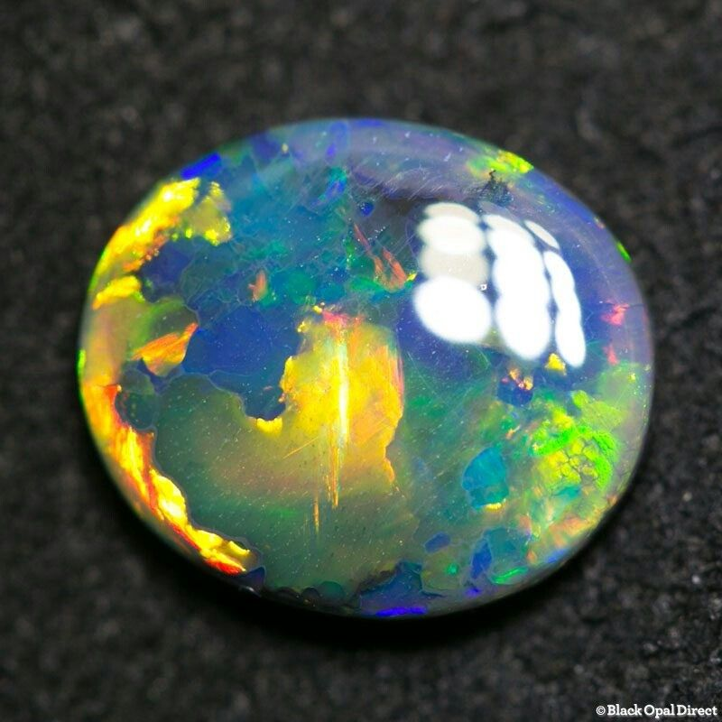 2 17 Ct Gem Black Opal By Black Opal Direct 9 750 00 Au Gems And Minerals Australian Opal Opal