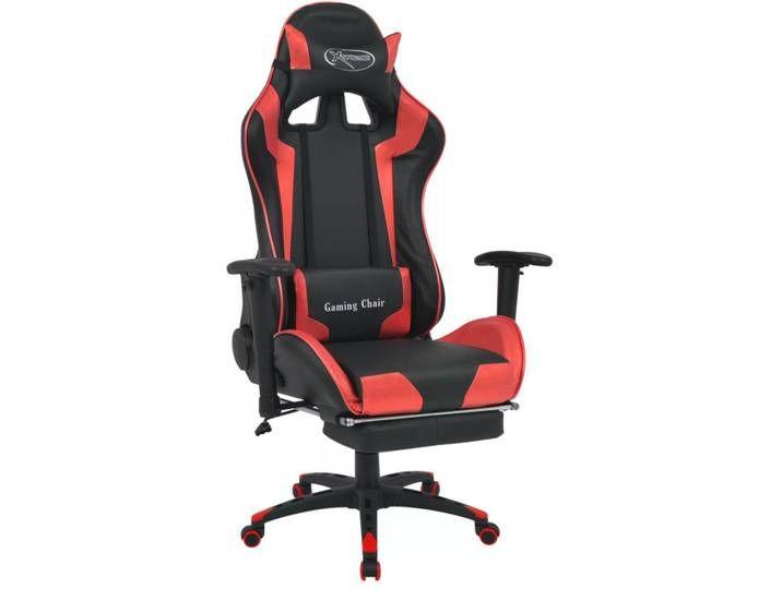 Vidaxl Burostuhl Gaming Stuhl Neigbar Mit Fussstutze Rot Gaming Chair Decor Chair