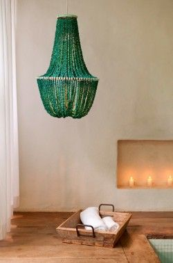 Green chandelier: nice weekend project!