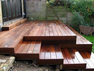 Awesome For An Uneven Yard Diy Step Porch Decks Backyard Deck