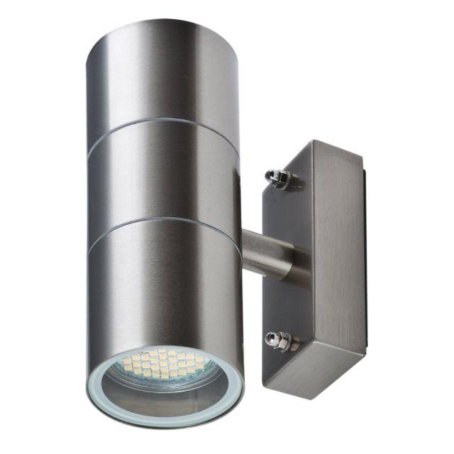 High Quality LED Wandleuchte ROM, M. Bewegungsmelder, Außenleuchte, 2 Flammig, Edelstahl,  Up Down, GU10 230V, (Form:A2) | Leuchte Mit Bewegungsmelder | Pinterest Images