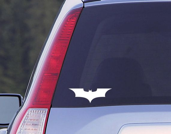 Vinyl decal batman symbol decal dark knight window decal batgirl decal