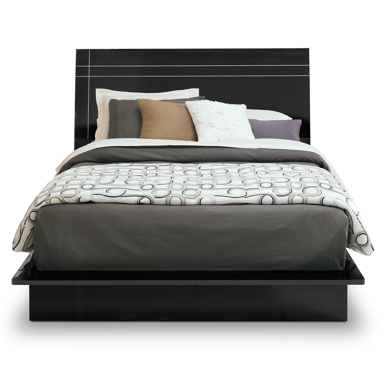 dimora bedroom set%0A Dimora Black II Queen Bed   Value City Furniture
