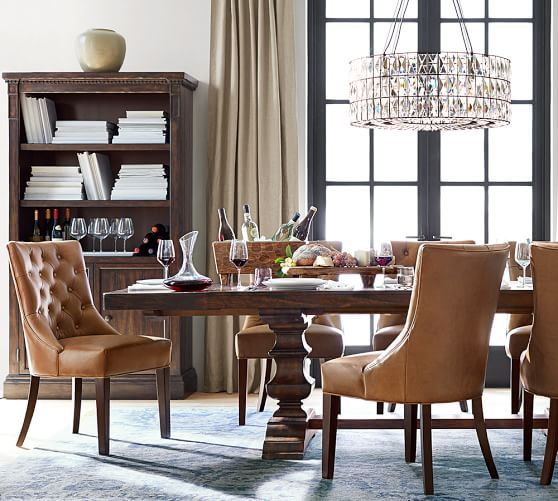Hayes Tufted Dining Side Chair Legacy Leather Heritage