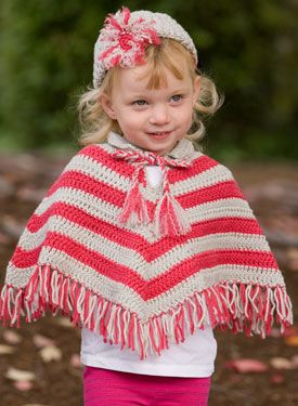 Free Pattern Crochet Childs Poncho : Child Poncho & Hat Set crochet pattern Crochet Child ...