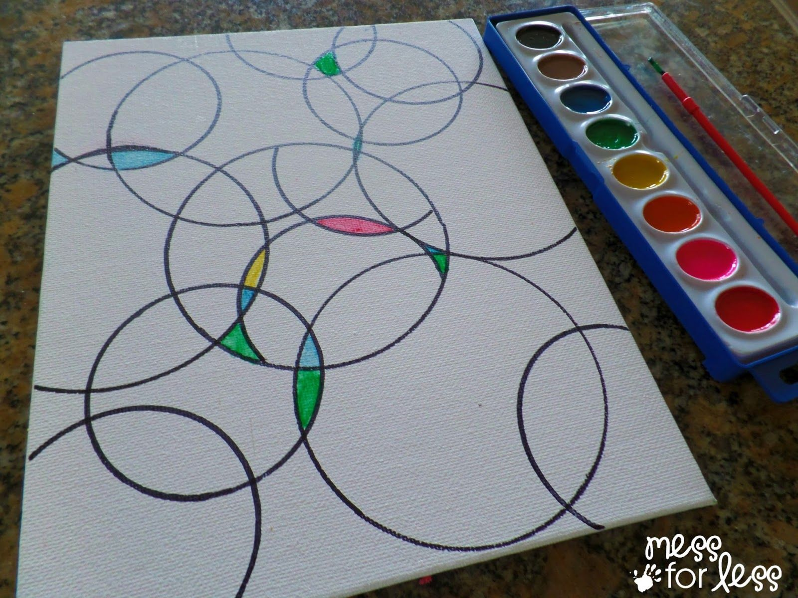 Watercolor circle art craft crafty and brownie girl scouts for Arts and crafts for brownies