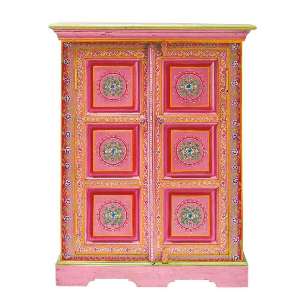Bargueno Cabinet De Rangement Meubles Peints Style Funky Armoire Maison Du Monde