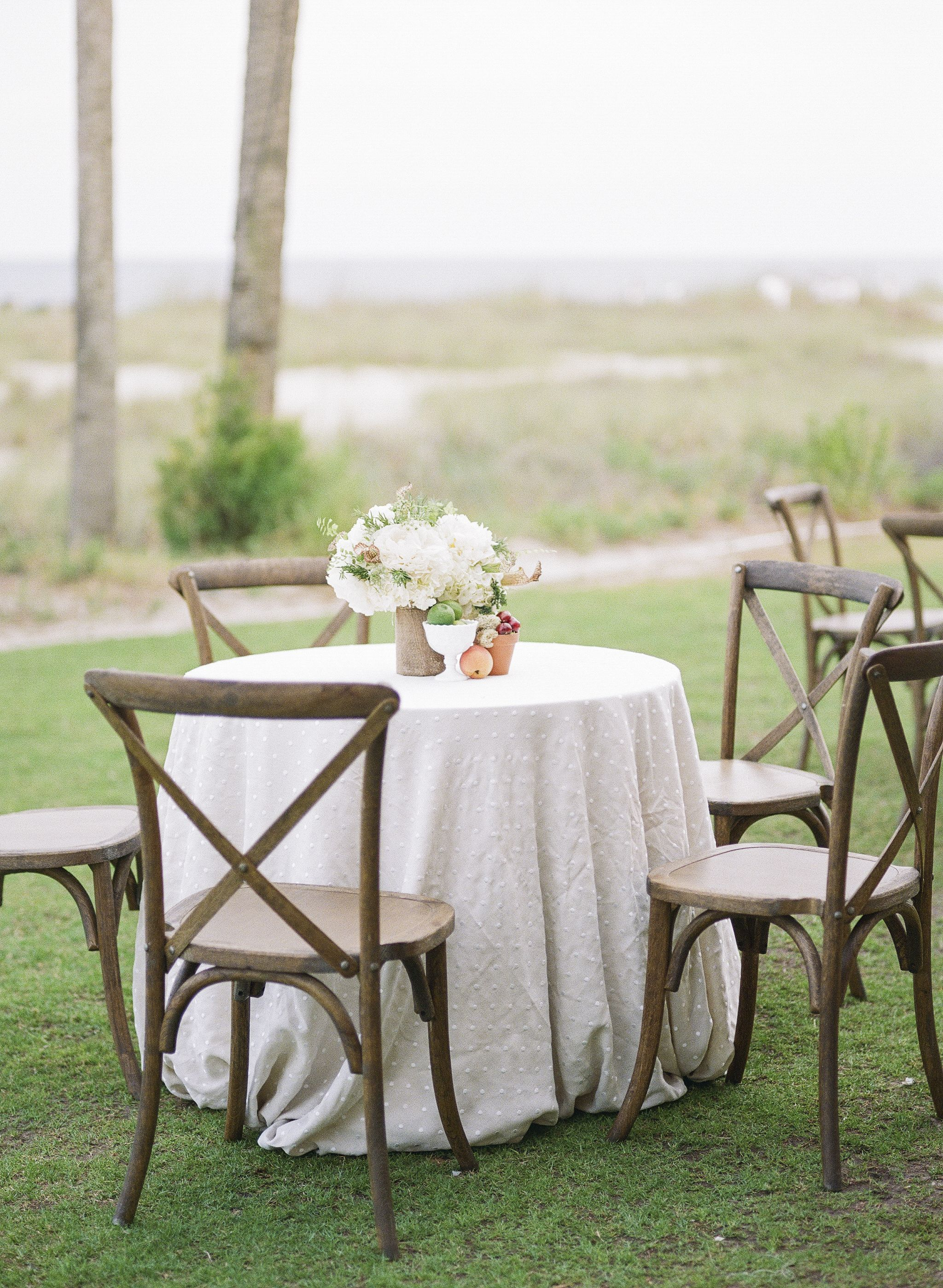 Wooden Cross Back Chairs at Neutral Table | Ideas | Pinterest ...
