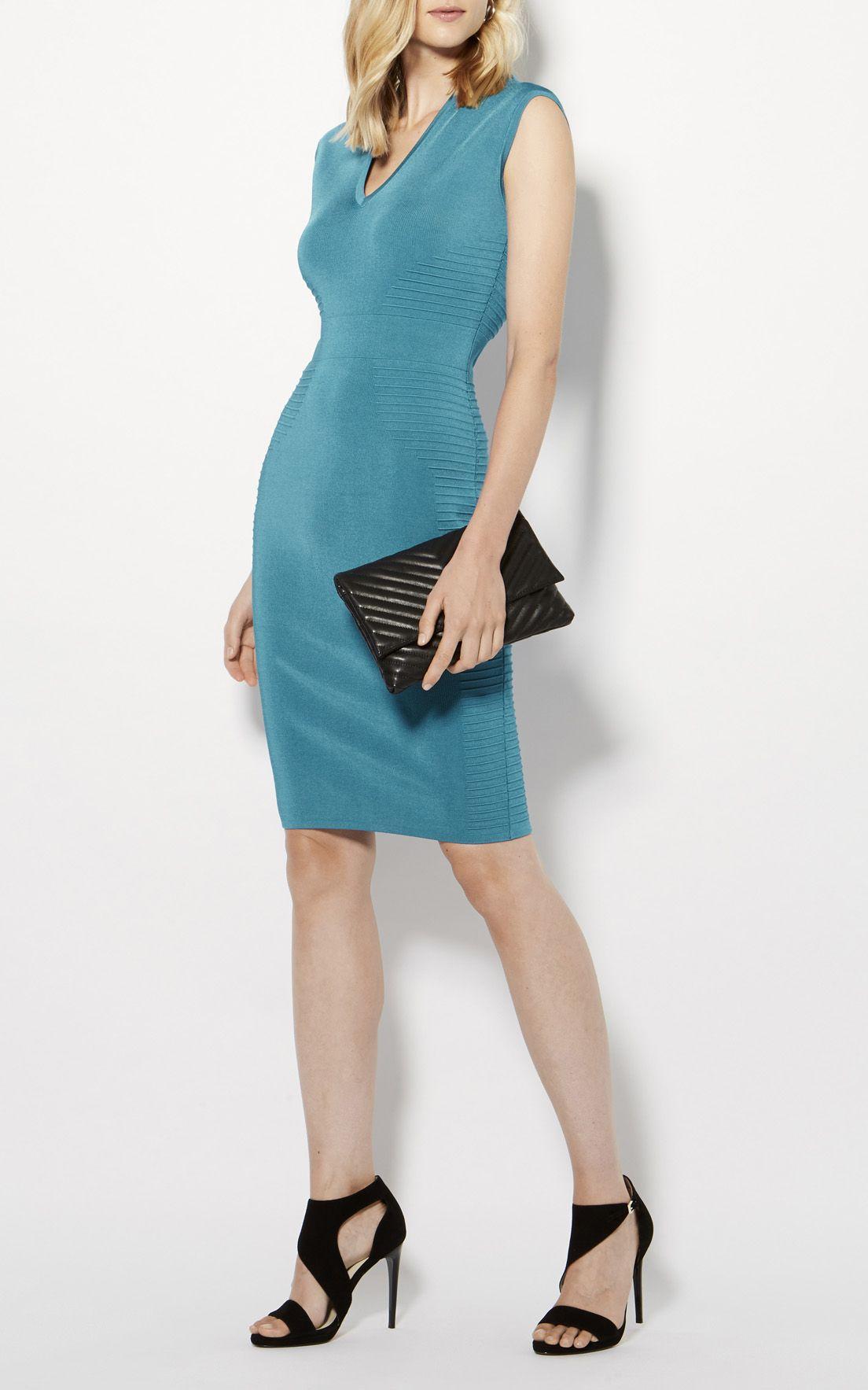 Karen Millen, RIBBED KNIT PENCIL DRESS Aqua | Goth Chic | Pinterest ...
