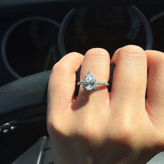 Major Engagement Ring Envyu2026 James Allen Pear Cut Ring