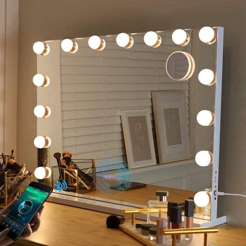 Sleek Frameless Hollywood Led Mirror, Vanity Mirror With Lights Frameless