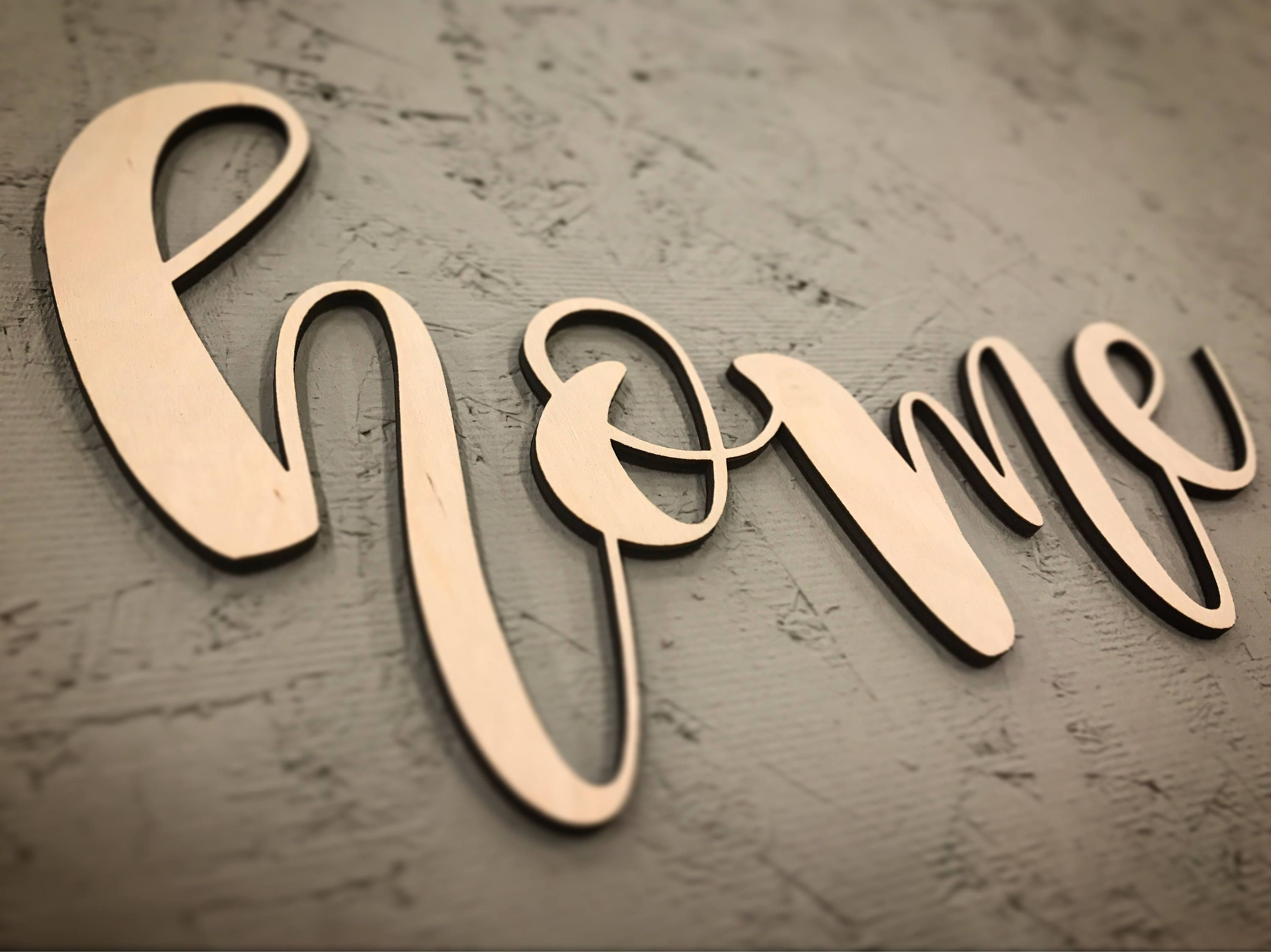 Home Laser Cut Wood Sign Letters Made In Canada Custom Orders Welcome By Majopagecreative On Etsy