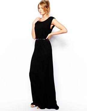 Asos mango black maxi dress