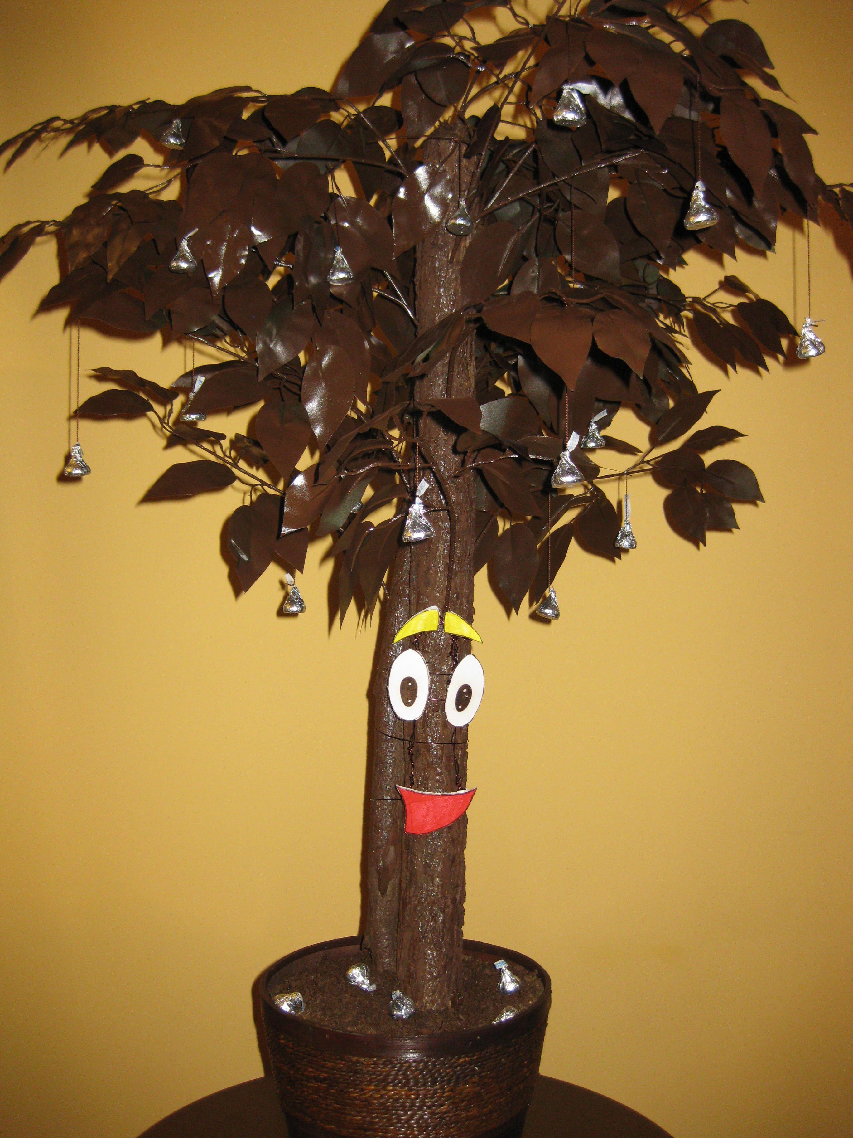 Dora Chocolate Tree with Hershey's kisses
