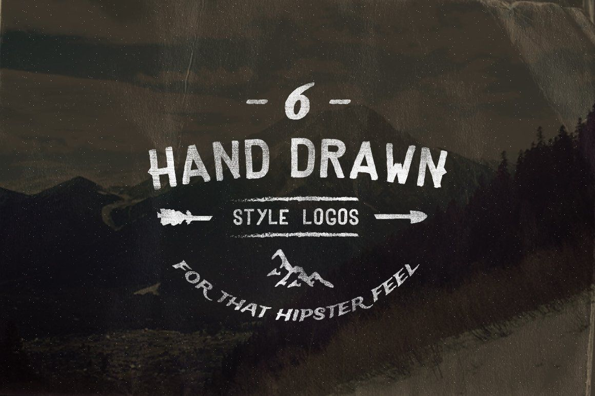 Vintage Hand Drawn Style Logos by Hustle Supply Co. on