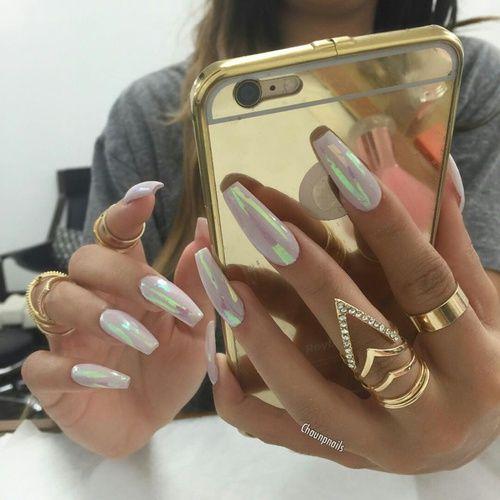 Boss goals gold holographic iphone money nail nailart rich boss goals gold holographic iphone money nail nailart prinsesfo Images