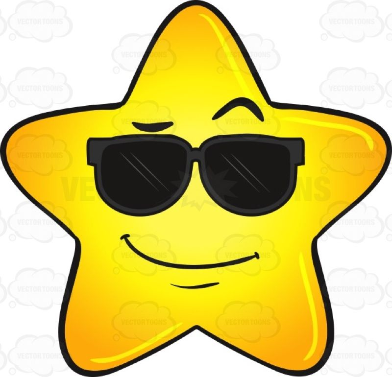 cool gold star wearing sunglasses emoji rh pinterest com Gold Number 9 Clip Art Gold Smiling Star Clip Art