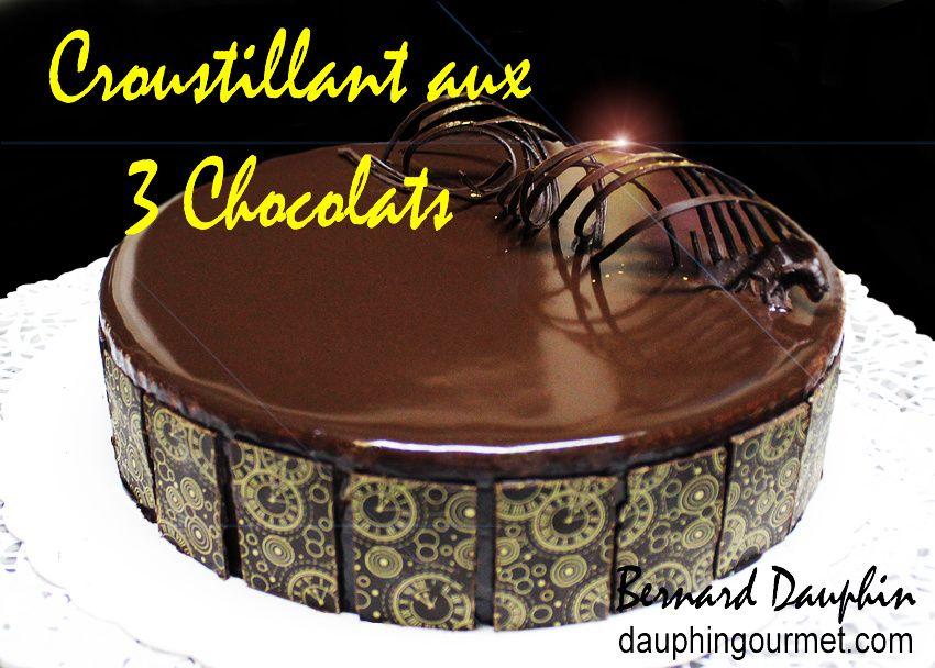 Croustillant sous gateau au chocolat