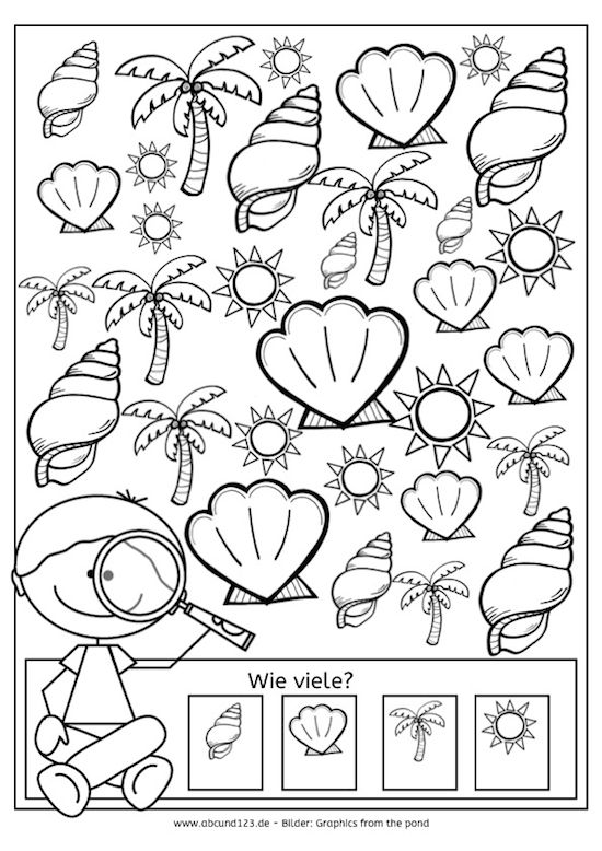 Tag 22: Ich sehe ... - | Math, Kindergarten and Worksheets