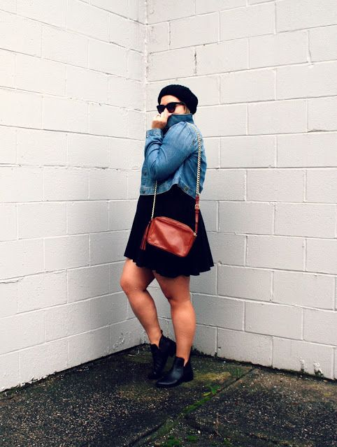 In Kinsey's Closet| Chic way to wear a beanie and denim jacket