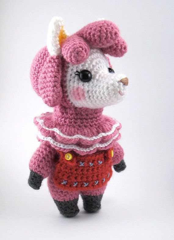 Animal Crossing Reese The Alpaca Instant Download Crochet Pattern