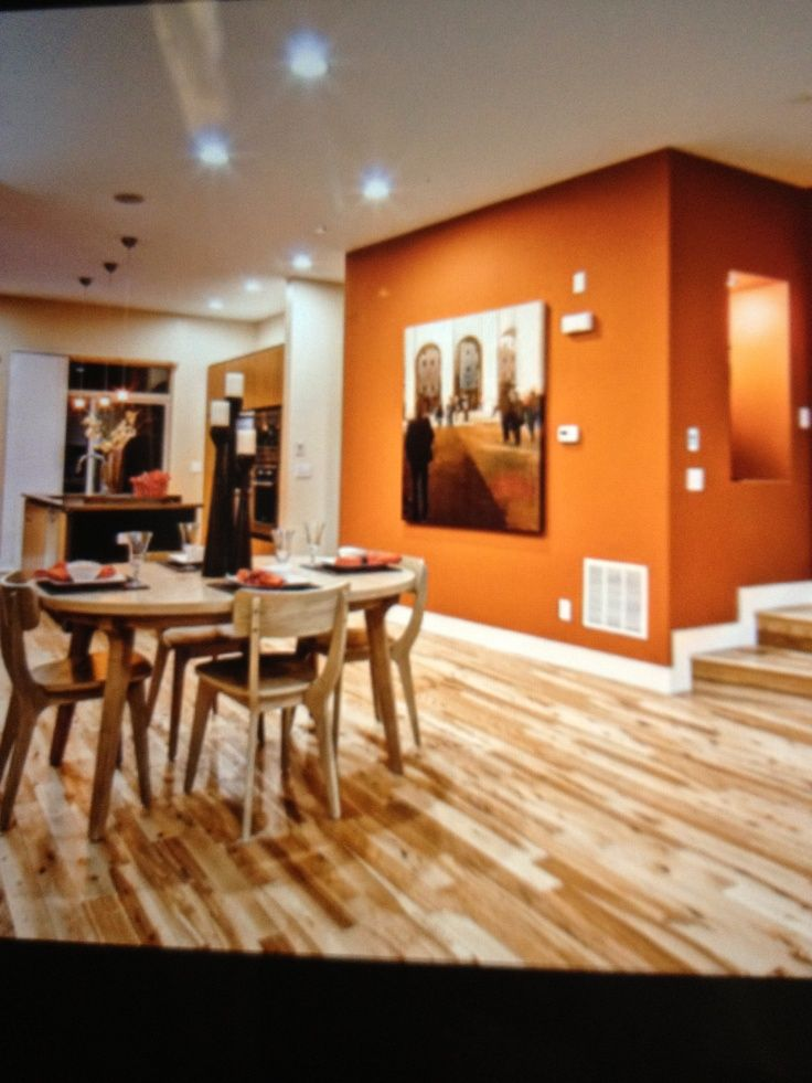 Images of living room wall colors with light pine floors Light burnt orange paint