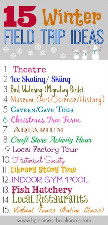 15 Winter Field Trip Ideas Ultimate Homeschool Board