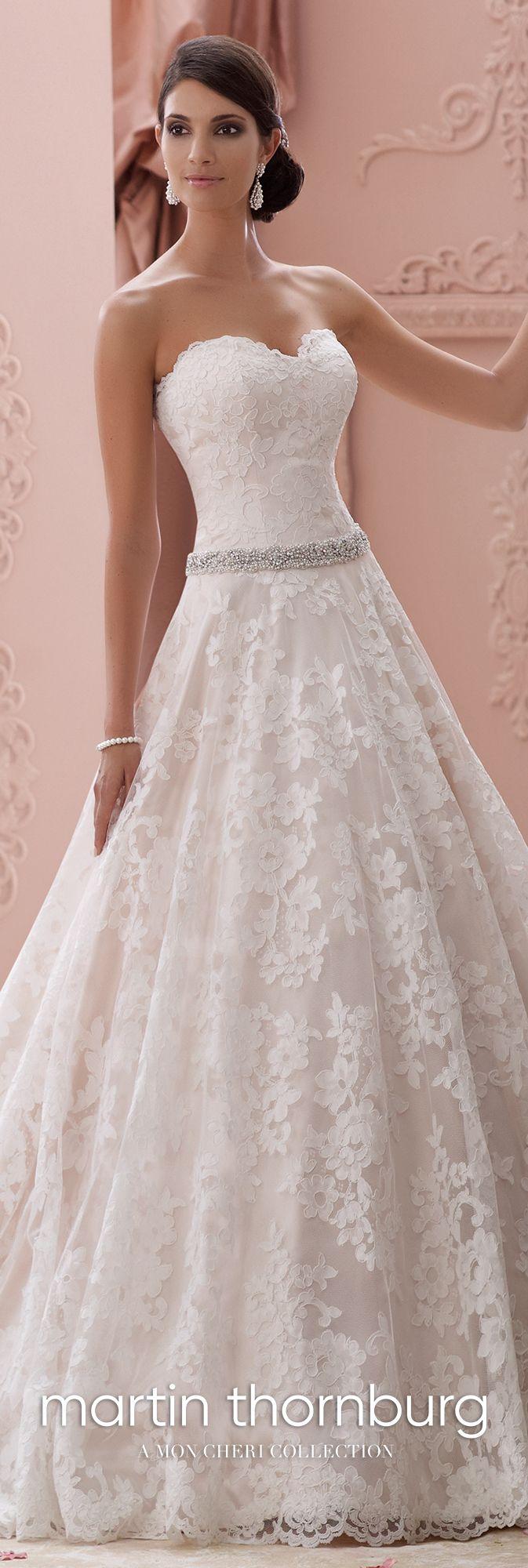 Strapless lace u jeweledbelt ball gown wedding dress suri