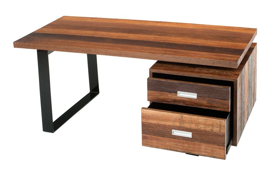 Wood desk bowry reclaimed wood desk abco and balt rustic reclaimed finish 1 299 shop with - Reclaimed wood office desk ...