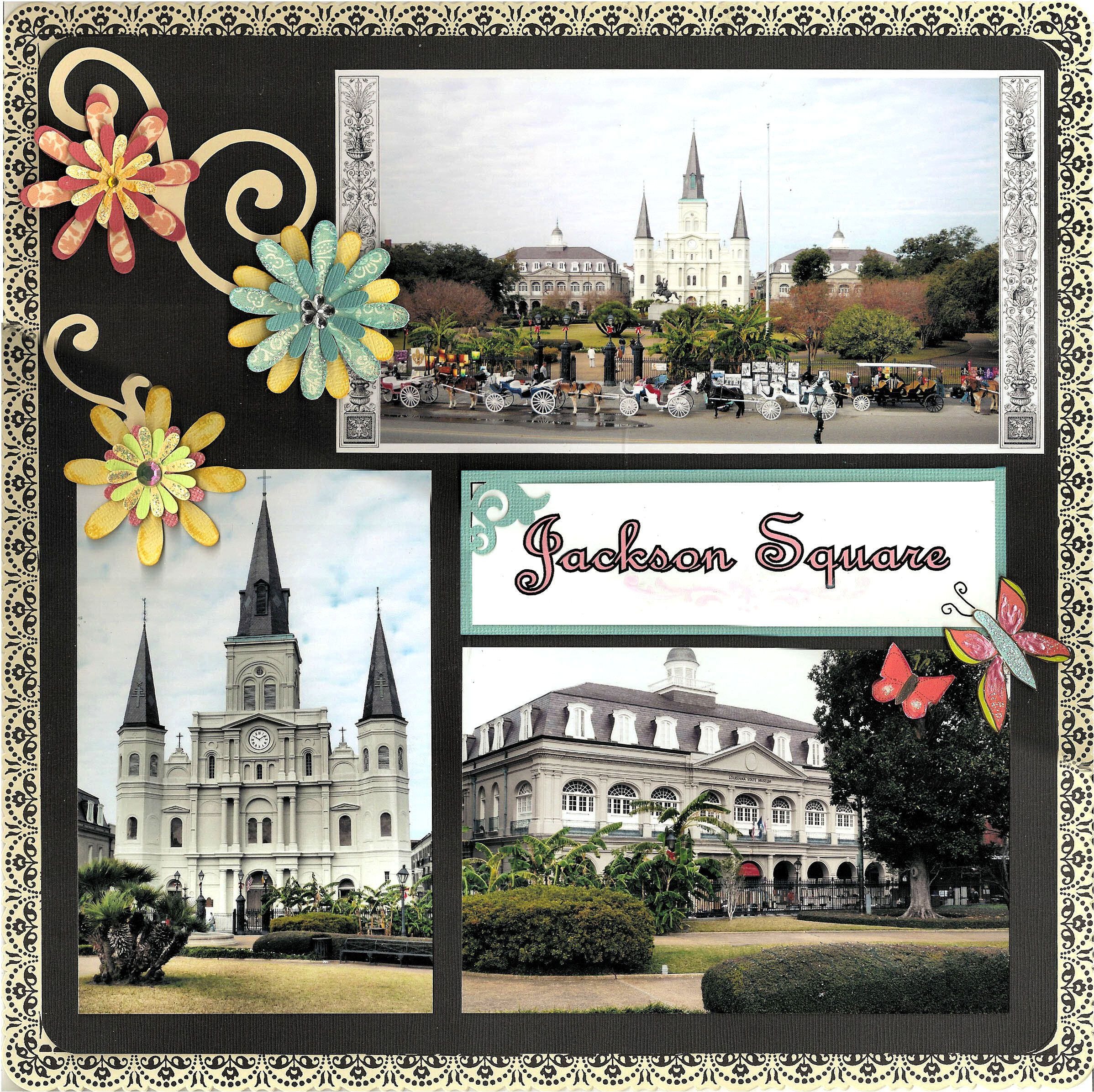 Scrapbook ideas new orleans - Layout New Orleans Jackson Square Page 1