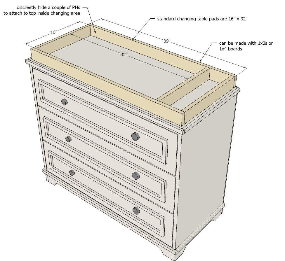 Ana White | Build a Fillman Dresser or Changing Table | Free and ...
